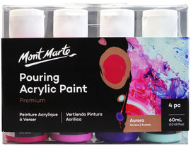 Acrylic Pouring Paint, Aurora Set of 4 bottles, 60ml (2oz) each, pnt0159