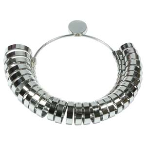 Ring Sizer Wide Ring, Sizes 1 to 15 with half sizes, tol1213