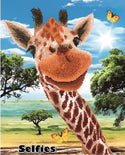 "Rhinestone Painting Kit, HEY THERE GIRAFFE, Diamond Dotz Diamond Embroidery, Diamond Facet Art, Bling Wall Art, 17x21"" canvas kit0149"