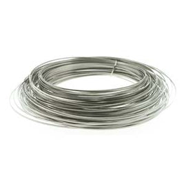 18ga Half Round Craft Wire, Stainless Steel, 17.2 feet wir0137