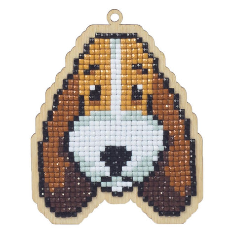 Diamond Painting Kit Dog Buddy Charm, kit0480