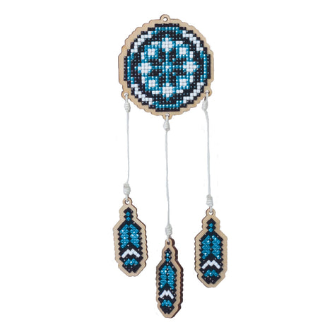 Diamond Painting Kit Blue Dreamcatcher Charm, kit0487