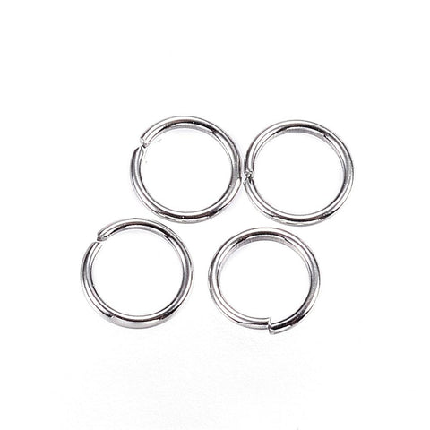 50 Stainless Steel Open Jump Rings 4mm OD 24ga 24 gauge jum0193