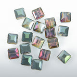 13mm NORTHERN LIGHTS AB Square Crystal Glass Beads, full strand, about 22 beads, bgl1260b