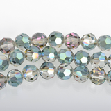 6mm NORTHERN LIGHTS Round Faceted Crystal Glass Beads, 1 strand, about 48 beads, bgl1595