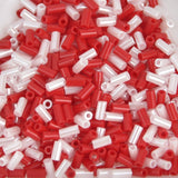 3mm Bugle Beads #1 Miyuki Strawberry Mix BGL1-9Mix05, 19.5 grams, bsd0701