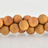 12mm Natural Sandalwood Wood Beads, Yellow Brown Wooden Beads, x10 beads, bwd0015