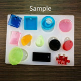 RESIN Mold, Silicone Mold to make Charms & Pendants, reusable, mold makes 12 different shapes and sizes, tol0876