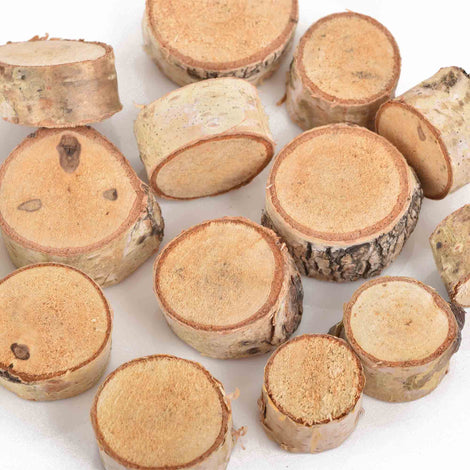 30 Natural Birch Wood Blanks, Round Circles Medallions for Craft