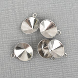 20 Stainless Steel Charm Blanks, fits 8mm ss38 point back rhinestone, chs3268