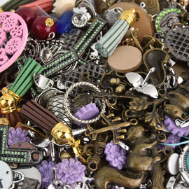 LIQUIDATION 100 Charms Collection Mixed styles Grab bag Random selection chs4886
