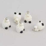 4 Sheep Charms, Resin Charms, chs6721