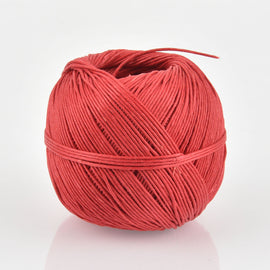 Red Hemp Cord Ball 0.5mm, 100 grams, 400 ft cor0337