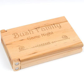 Personalized Wood CRIBBAGE Board Game, custom wedding gift, anniversary gift, game night, hostess gift, laser engraved board game gft0057