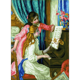 Diamond Painting Kit Renoir Girls at the Piano Diamond Dotz kit0463