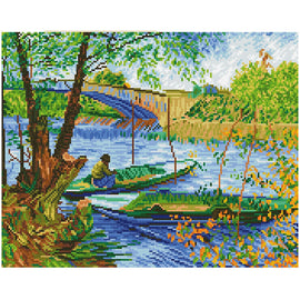 Diamond Painting Kit Van Gogh Fishing in Spring Diamond Dotz kit0470