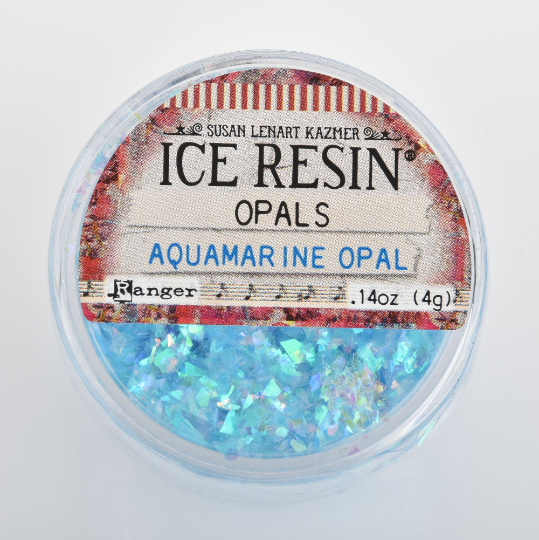 Aquamarine Blue Opal Glitter Shards for Ice Resin by Ranger .11oz cft0184