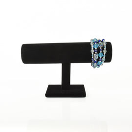 black velvet jewelry display stand