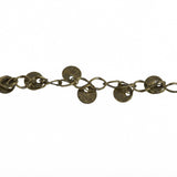 1 yard (3 feet) of BRONZE GOLD DISC Curb Link Chain  fch0173a
