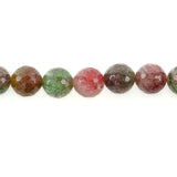10 Polished Round Faceted WATERMELON AGATE  Beads  12mm gag0097a