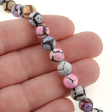 "1 Strand 15.5"" Round Dyed FACETED PASTEL Colors Agate Beads 8mm  Natural Gemstones gag0112"