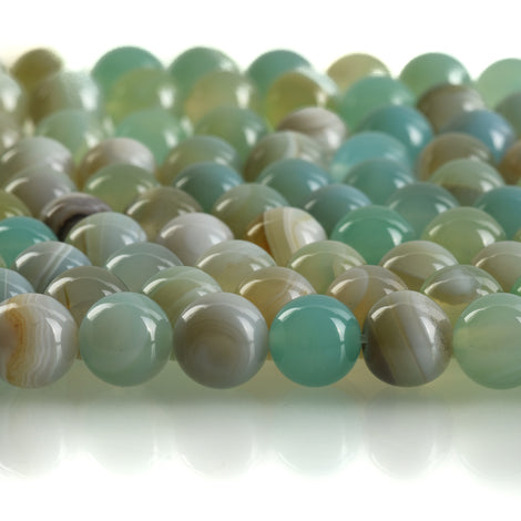 12mm Round BLUE GREEN  AGATE Beads, smooth, full strand, 32 beads, gag0355