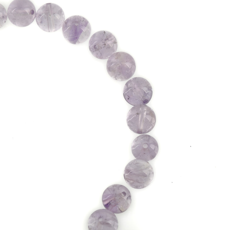 12 Smooth Round Grade A PURPLE AMETHYST Beads, 8mm  Natural Gemstones, high quality transparent gam0009