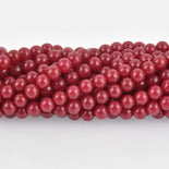 6mm Raspberry Red Round Jade Gemstone Beads, full strand, about 65 beads, gem0413