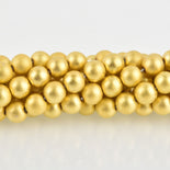 8mm Round GOLD HEMATITE Gemstone Beads Matte full strand gem0419