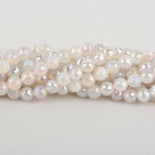 10mm MOONSTONE Round Beads, faceted electroplate gemstones, full strand, gem0440