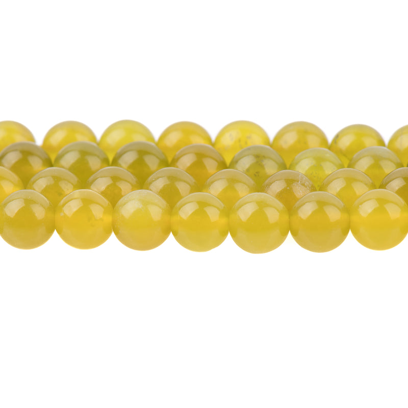 8mm OLIVE Jade Beads, Round Natural Jade Beads, Half Strand, about 26 beads, gjd0047