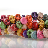 "15"" Strand Synthetic Turquoise Howlite STONE SKULL Beads . Drilled side-to-side hard to find how0159"