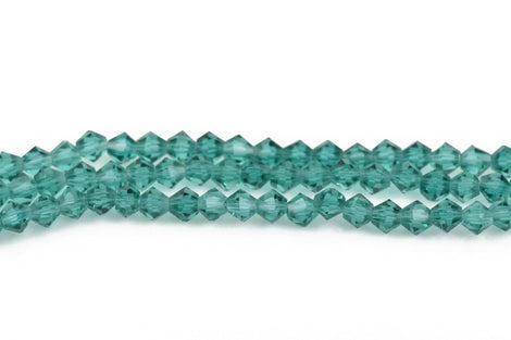 6mm BLUE ZIRCON Bicone Glass Crystal Beads, Transparent Faceted Beads, 50 beads, bgl1523