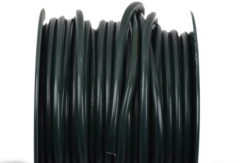 5mm HUNTER GREEN Round Licorice Leather, European Leather Cord, flexible, 1 yard (3 feet), cor0105