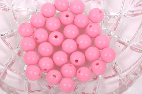 12mm PINK Acrylic Bubblegum Beads, package of 30 beads,  bac0325