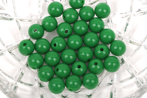 12mm EMERALD GREEN Acrylic Bubblegum Beads, package of 30 beads,  bac0328