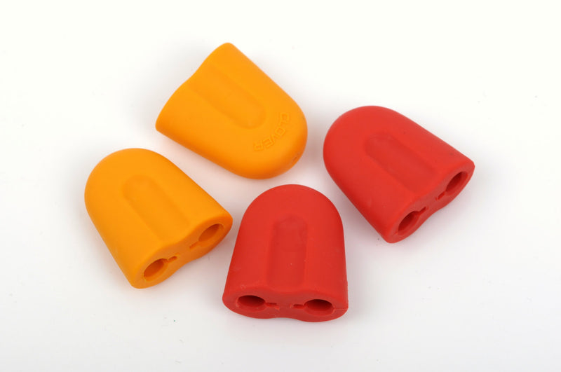 4 Point Protectors for Circular Knitting Needles, knitting needle tip guards, fits needle sizes 8-15 (5-10mm), silicone, knt0103