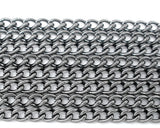 10 meters Bulk Gunmetal CURB Link Chain (32+ feet), oval links are 4x3mm, fch0405