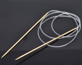 "Bamboo Circular Knitting Needles, 100cm (39.5"")  Size 1"