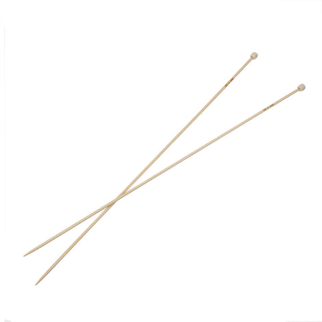 "Pair of Bamboo Knitting Needles, US Size 2, 2.75mm, (UK Size 12) 13"" long knt0132"