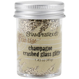 CHAMPAGNE GOLD Crushed Glass Glitter, Stampendous Frantage, 1.4 oz. jar, for ICE Resin, Scrapbook Embellishment, Mixed Media, cft0035