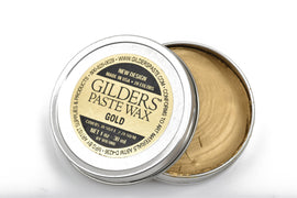 GOLD METALLIC Gilders Paste, Wax Patina Paint,  Wax Gilders Paste, 1 oz, 30ml, pnt0028