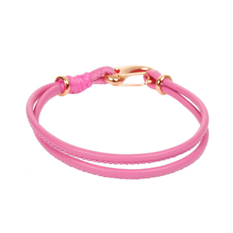 "2 LIGHT PINK Leather Bracelet Cord Blanks, Polyurethane Leather, gold trim, 19.5cm long, 7.5"" long cor0101"