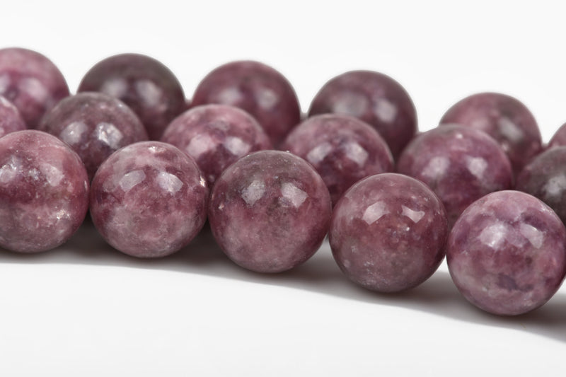 12mm LILAC PURPLE LEPIDOLITE Round Gemstone Beads full strand gms0028 about 33 beads