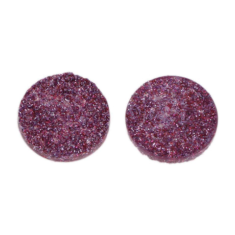 10 Round Resin Metallic HOT PINK Purple Magenta Druzy Cabochons, faux glitter druzy, 12mm, cab0473