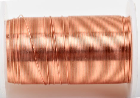 26ga COPPER CRAFT WIRE, Tarnish Resistant Craft Wire, wire wrapping, 26 gauge, 26 ga copper wire, 34 yards (102 feet) spool wir0048