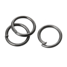 50 Gunmetal Open Jump Rings, 6mm, 21 gauge, jum0180