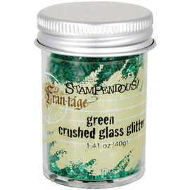 GREEN Crushed Glass Glitter, Stampendous Frantage, 1.4 oz. jar, for ICE Resin, Scrapbook Embellishment, Mixed Media, cft0038