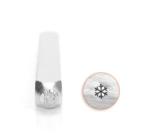 ImpressArt Metal Design Stamp,  3mm SMALL SNOWFLAKE  tol0067