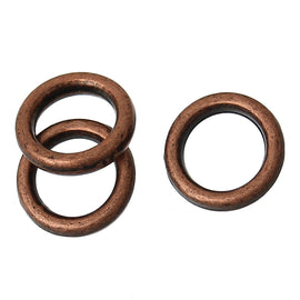 6mm COPPER Plated Soldered Closed Jump Rings, 17 gauge, 50 pcs, jum0185a